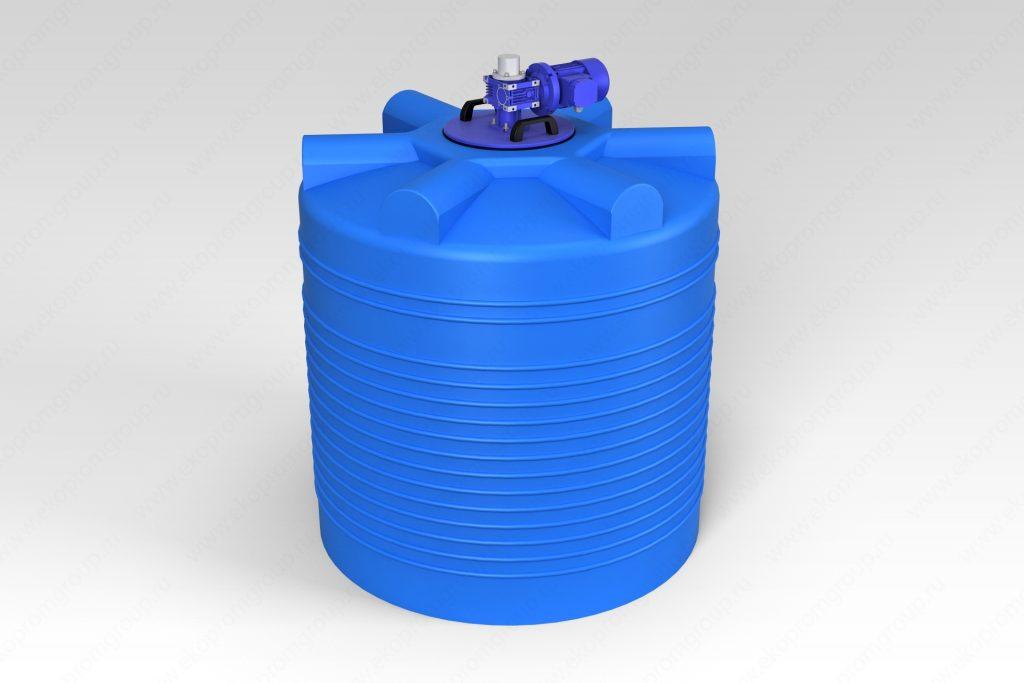 Емкость ЭВЛ 1000 литров с лопастной мешалкой 1