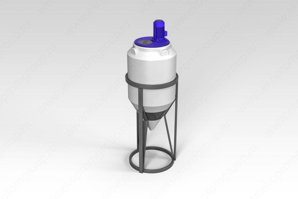 Емкость ФМ 120 литров в обрешетке с турбинной мешалкой 1
