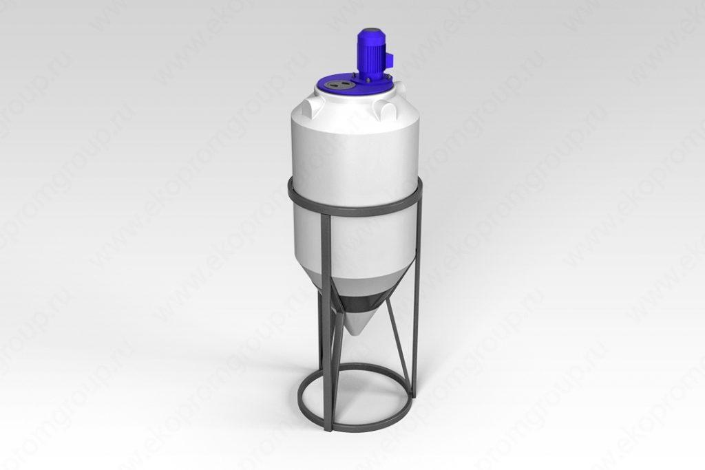 Емкость ФМ 240 литров в обрешетке с турбинной мешалкой 1