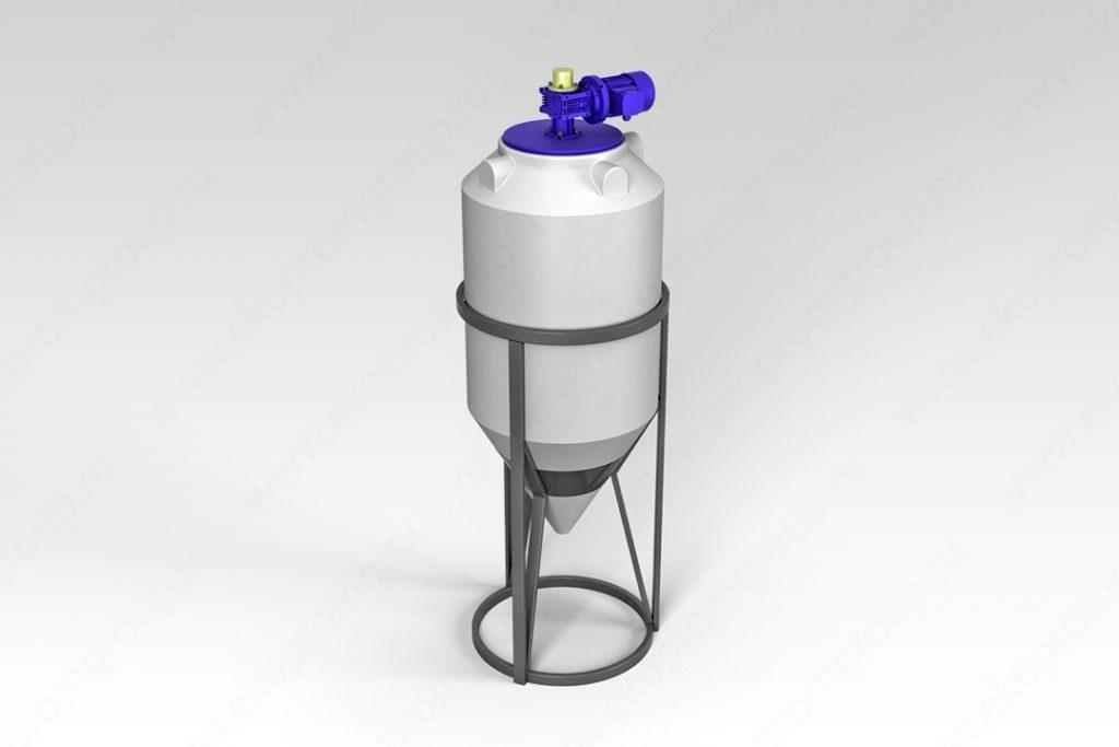 Емкость ФМ 240 литров в обрешетке с лопастной мешалкой 1