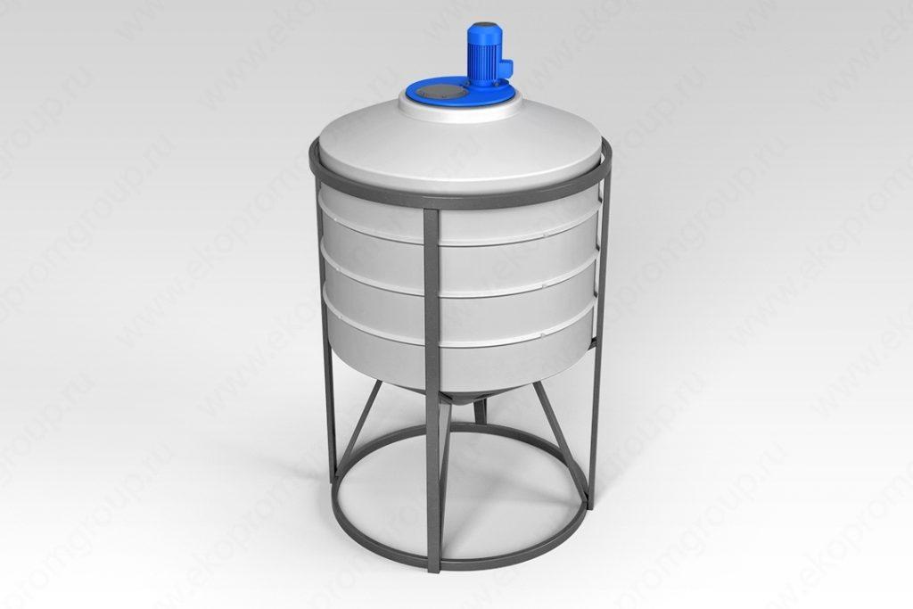Емкость ФМ 500 литров в обрешетке с турбинной мешалкой 1