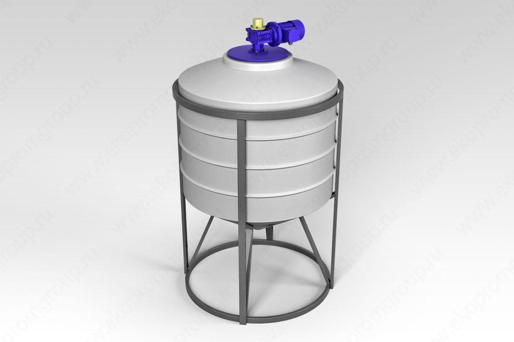 Емкость ФМ 500 литров в обрешетке с лопастной мешалкой 1