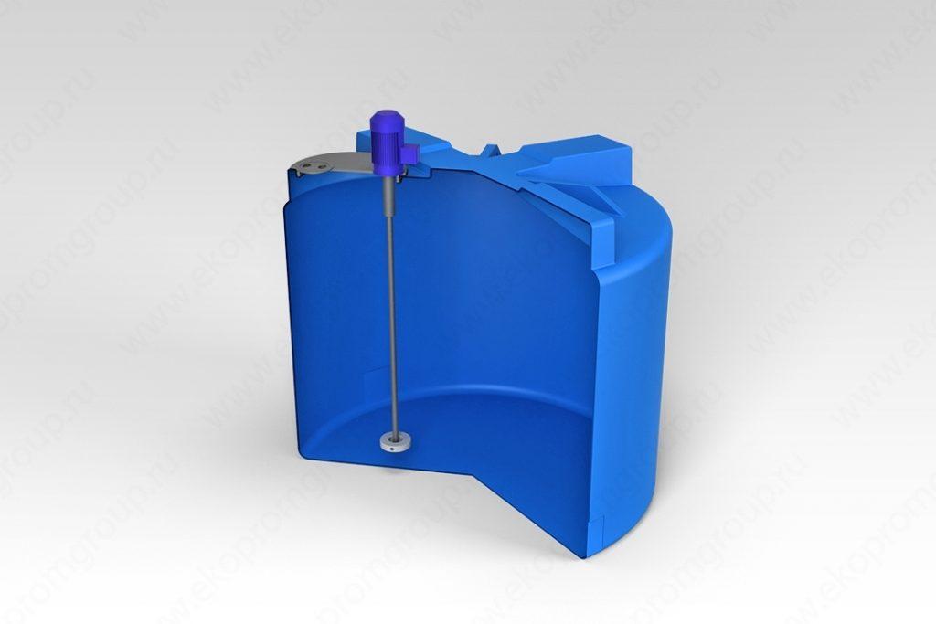Емкость T 2000 литров с турбинной мешалкой 1