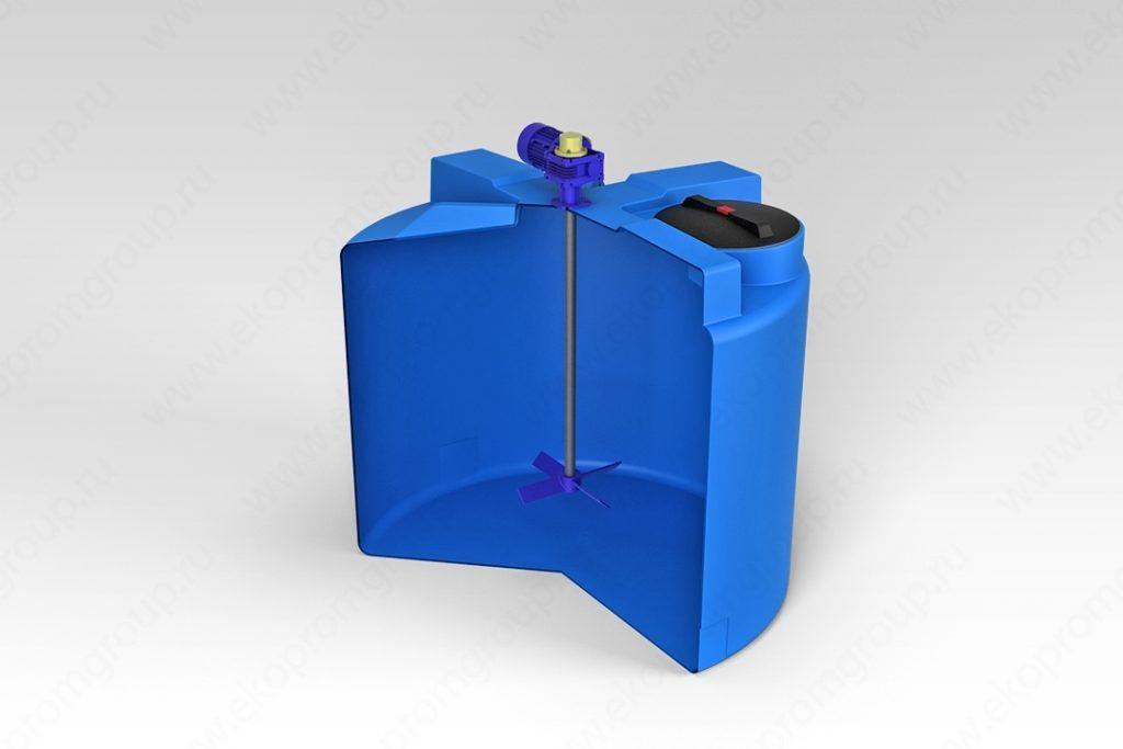 Емкость T 2000 литров с лопастной мешалкой 1