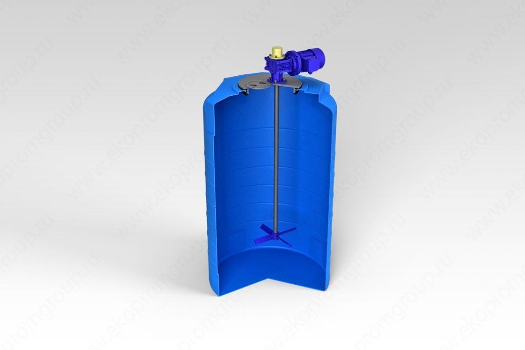Емкость T 500 литров с лопастной мешалкой 1